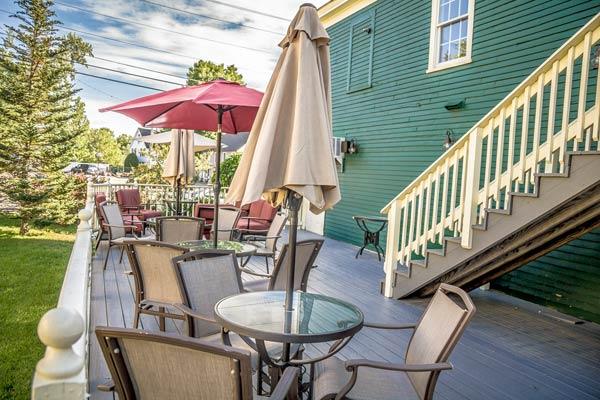 Restaurant / Martini & Whiskey Bar Back Deck