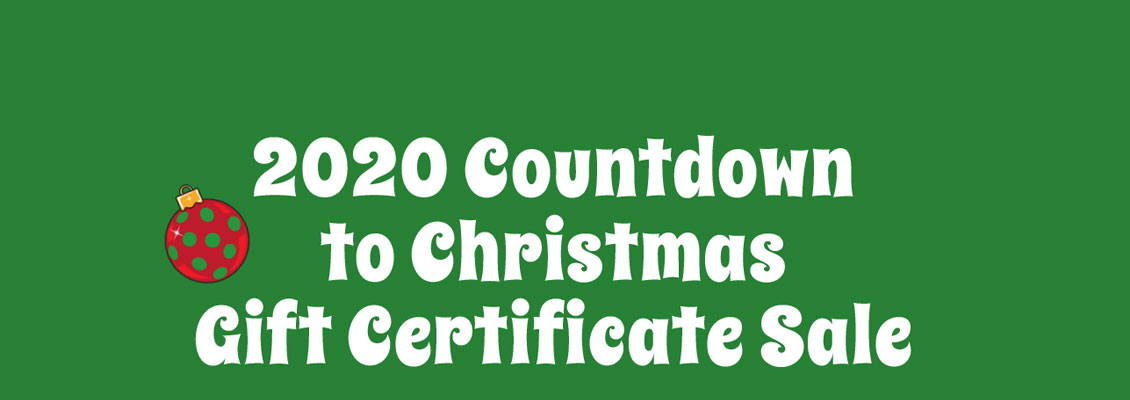 Countdown to Christmas Gift Certificate Sale